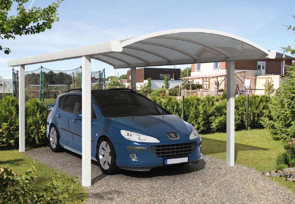 carport und garage aus aluminium bogencarport 1er 9m kaufen. Black Bedroom Furniture Sets. Home Design Ideas