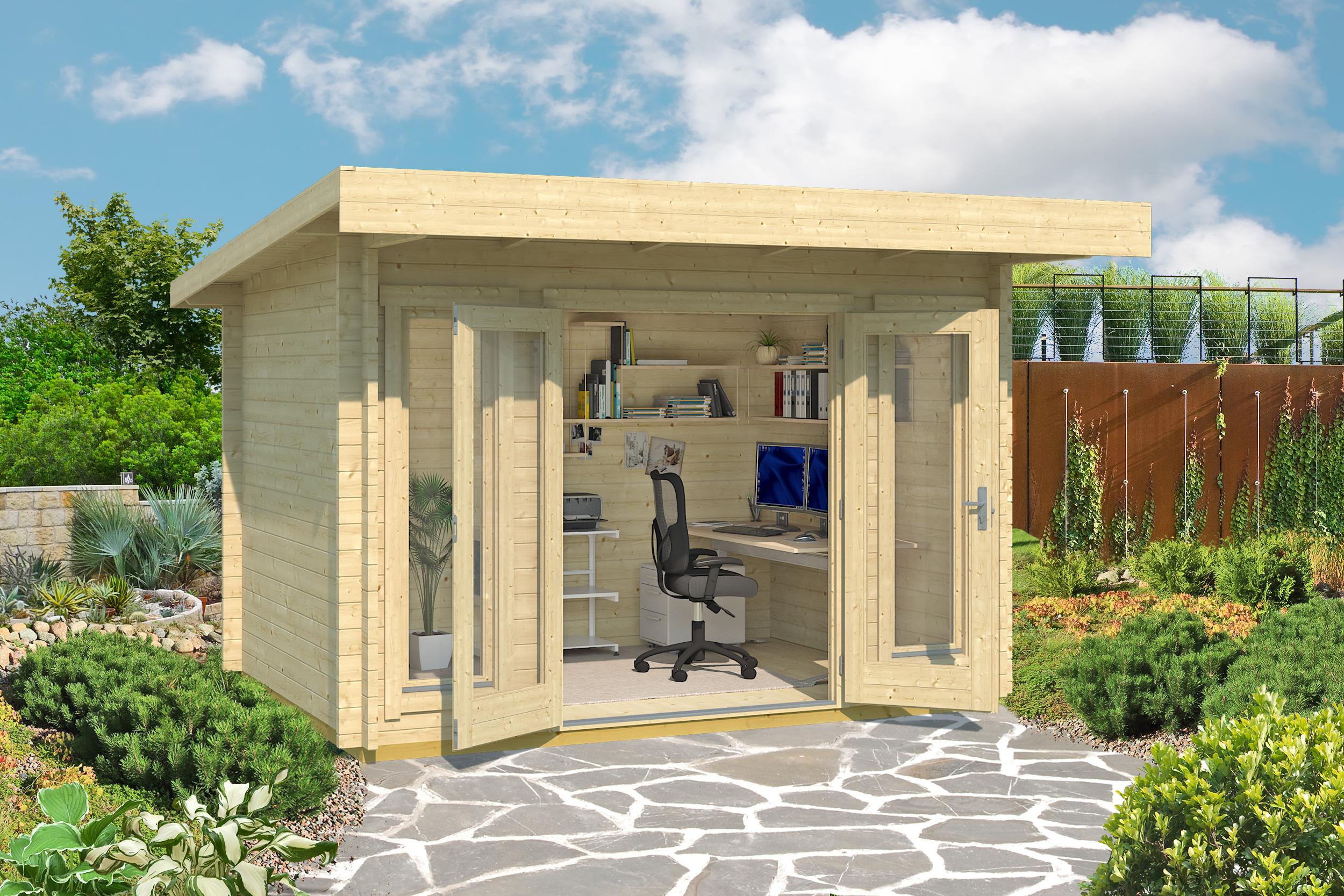 gartenhaus und ger tehaus flachdach pultdach bungalow mini kaufen. Black Bedroom Furniture Sets. Home Design Ideas