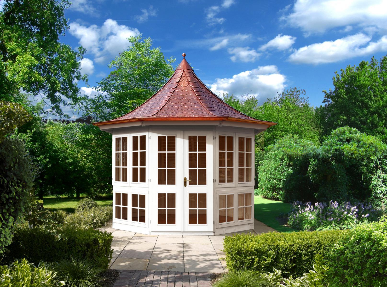 gartenlaube grilllaube und pavillon aus holz geschlossen bellavista 8eck kaufen. Black Bedroom Furniture Sets. Home Design Ideas