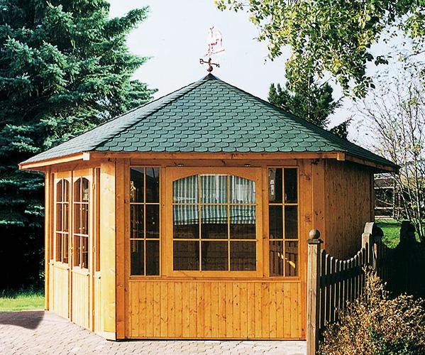 gartenlaube grilllaube und pavillon aus holz geschlossen chalet 6eck 9400 kaufen. Black Bedroom Furniture Sets. Home Design Ideas