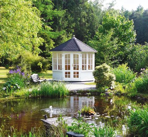 gartenlaube grilllaube und pavillon aus holz geschlossen sunrise 8eck 2 kaufen. Black Bedroom Furniture Sets. Home Design Ideas