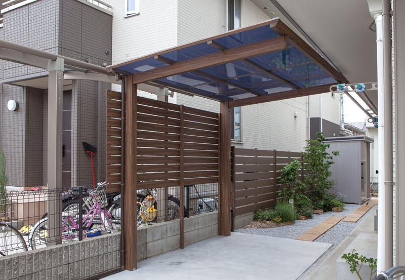 carport und garage alu im holzdesign einzelcarport freitragend kaufen. Black Bedroom Furniture Sets. Home Design Ideas