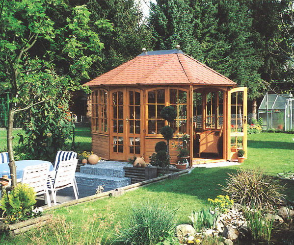 gartenlaube grilllaube und pavillon aus holz geschlossen sunrise 10eck 1 kaufen. Black Bedroom Furniture Sets. Home Design Ideas