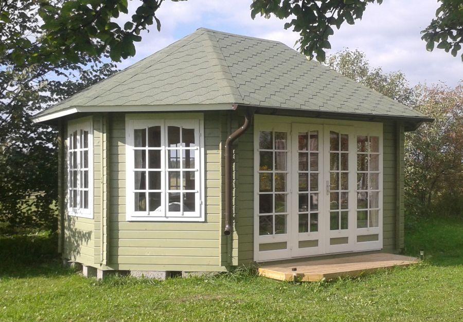 gartenlaube grilllaube und pavillon aus holz geschlossen. Black Bedroom Furniture Sets. Home Design Ideas