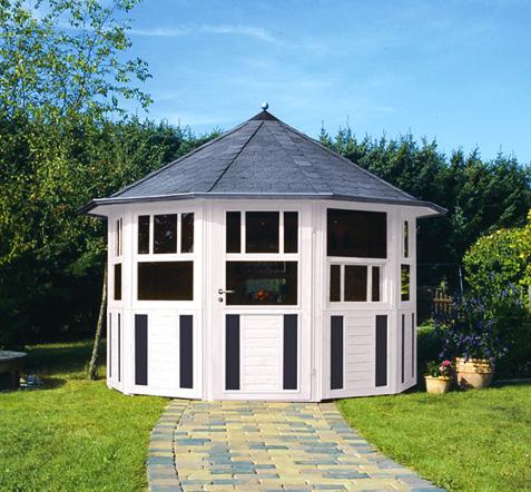 gartenlaube grilllaube und pavillon aus holz geschlossen light wonder 10eck rund kaufen. Black Bedroom Furniture Sets. Home Design Ideas