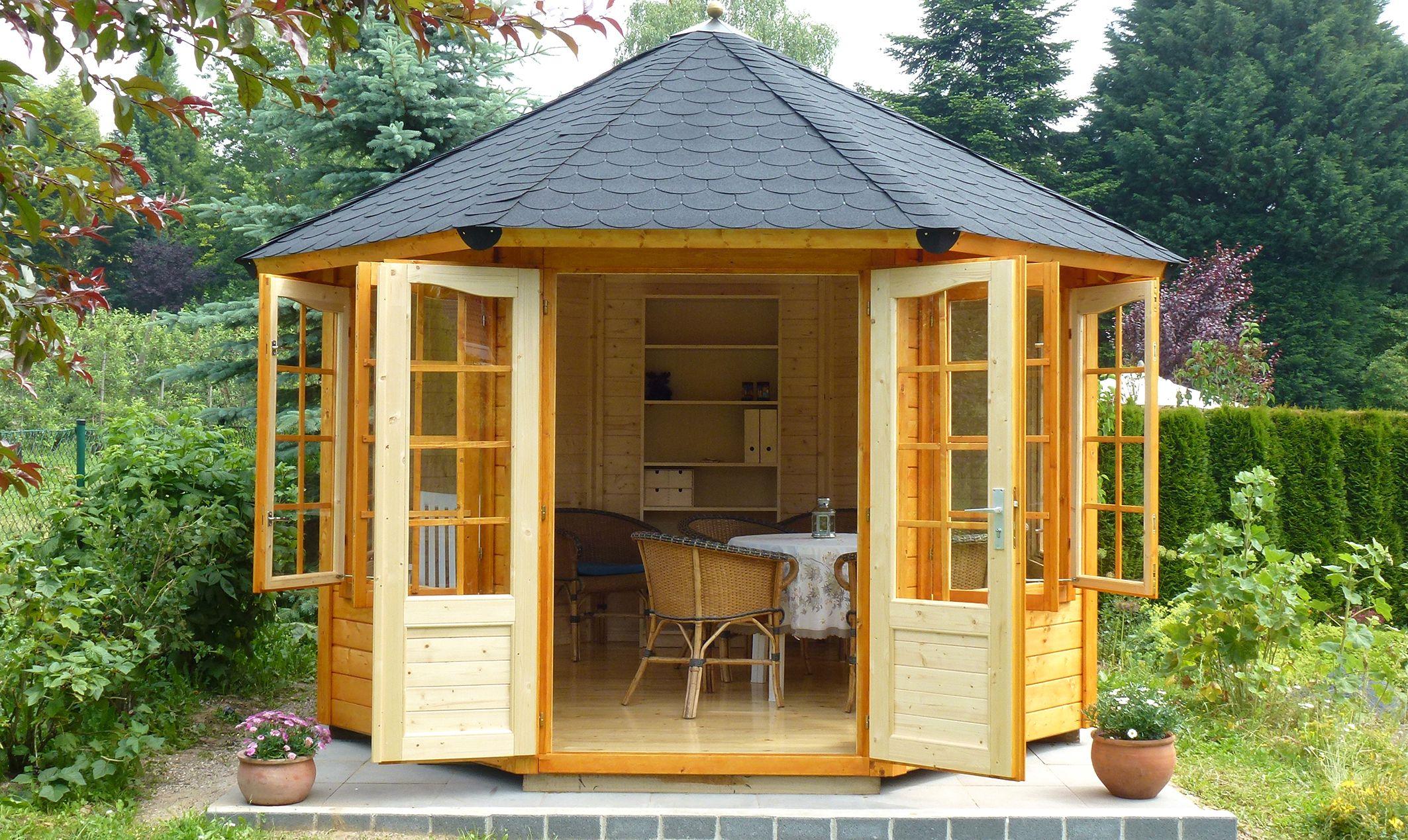 gartenlauben grilllauben und pavillons aus holz geschlossen sommergl ck kaufen. Black Bedroom Furniture Sets. Home Design Ideas