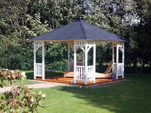 gartenlaube grilllaube und pavillon aus holz offen fiesta 4eck 3 kaufen. Black Bedroom Furniture Sets. Home Design Ideas