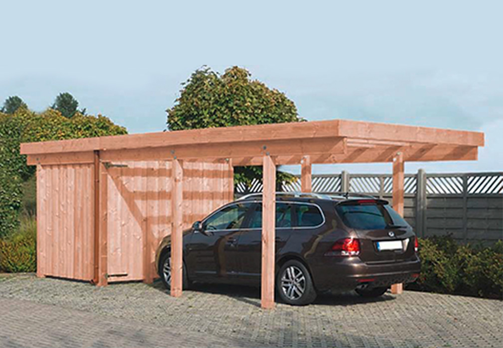 carport und garage aus holz amrum 2 kaufen. Black Bedroom Furniture Sets. Home Design Ideas