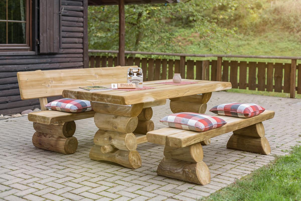 gartenmöbel und zubehör rustikal westerwald sitzgarnitur, Gartenmöbel