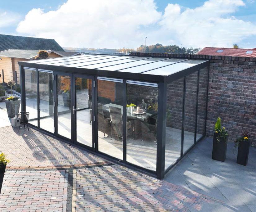 wintergarten aluminium polycarbonat 4 m tief kaufen. Black Bedroom Furniture Sets. Home Design Ideas