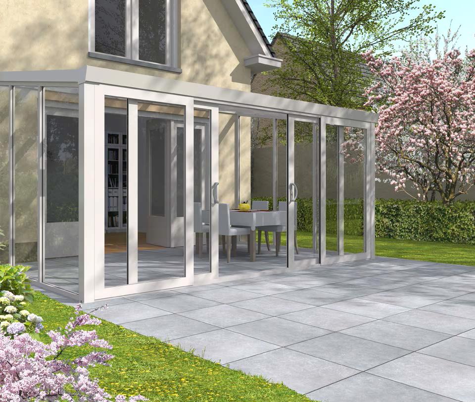 Winterg rten aluminium polycarbonat 2 5 m tief kaufen - Fundament wintergarten ...