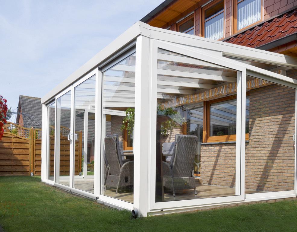 winterg rten aluminium polycarbonat 3 m tief kaufen. Black Bedroom Furniture Sets. Home Design Ideas
