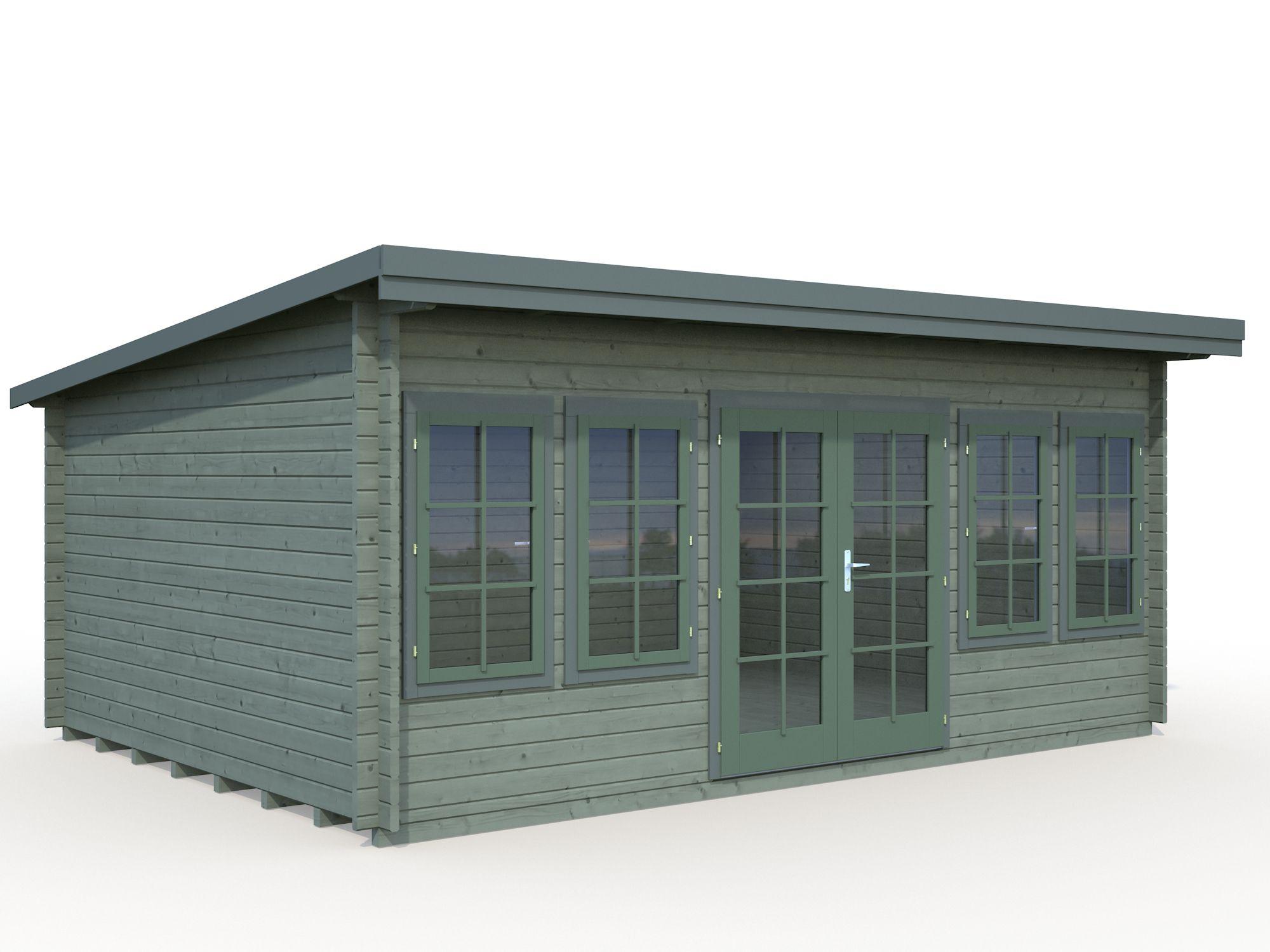 gartenhaus und ger tehaus flachdach pultdach flat style 3. Black Bedroom Furniture Sets. Home Design Ideas