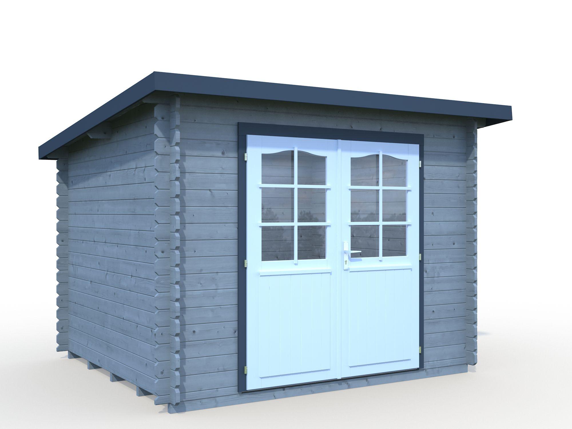 gartenhaus und ger tehaus flachdach pultdach leo kaufen. Black Bedroom Furniture Sets. Home Design Ideas