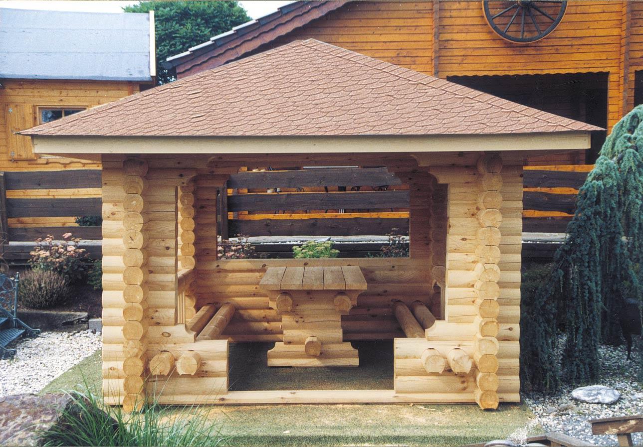 gartenlaube grilllaube und pavillon aus holz offen rustika 2 kaufen. Black Bedroom Furniture Sets. Home Design Ideas