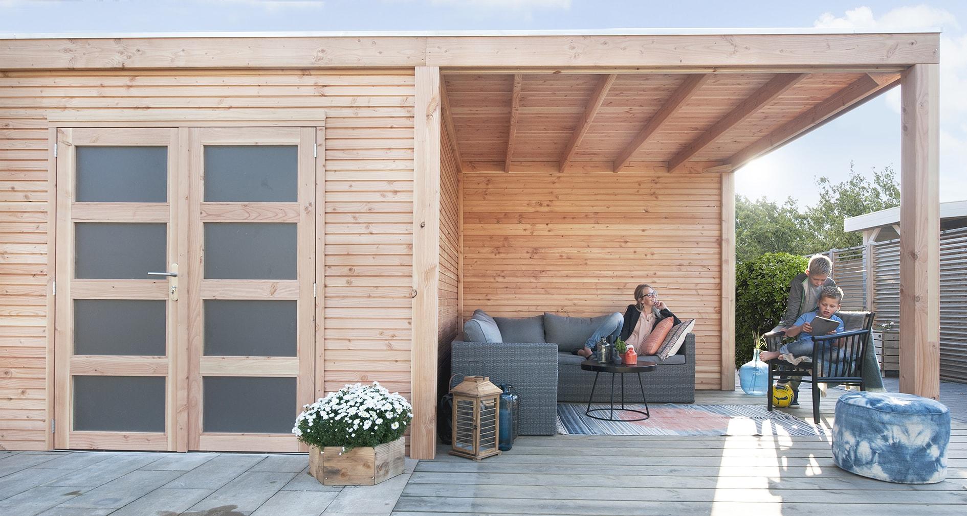 gartenhaus und ger tehaus flachdach pultdach dakota sd kaufen. Black Bedroom Furniture Sets. Home Design Ideas