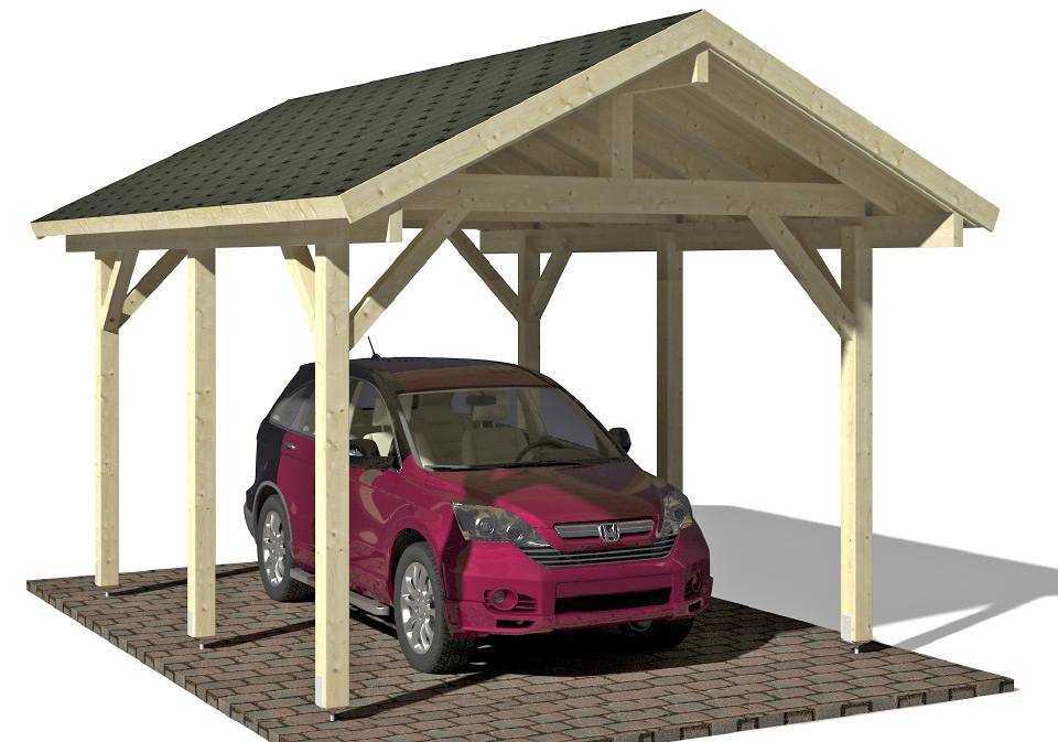 carport und garage aus holz moritz kaufen. Black Bedroom Furniture Sets. Home Design Ideas