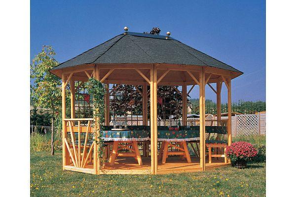 gartenlaube grilllaube und pavillon aus holz offen sunlight 10eck rund kaufen. Black Bedroom Furniture Sets. Home Design Ideas