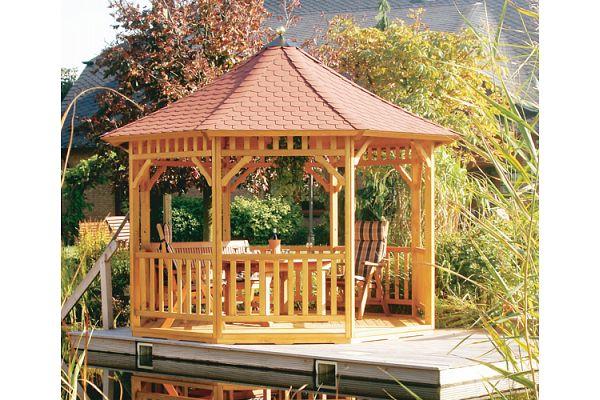 gartenlaube grilllaube und pavillon aus holz offen fiesta 8eck 3 kaufen. Black Bedroom Furniture Sets. Home Design Ideas