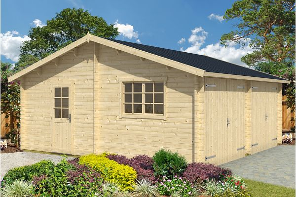 carport und garage aus blockbohlen ulme kaufen. Black Bedroom Furniture Sets. Home Design Ideas