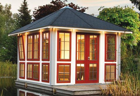 Pavillon aus holz exclusiv kaufen for Gartenlaube aus holz