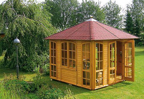 gartenlauben pavillons aus holz kaufen bauen. Black Bedroom Furniture Sets. Home Design Ideas