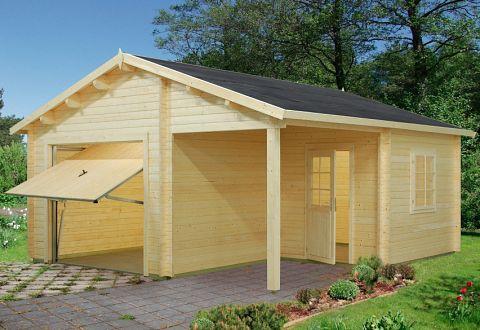 holzgarage garage aus holz kaufen bauen. Black Bedroom Furniture Sets. Home Design Ideas