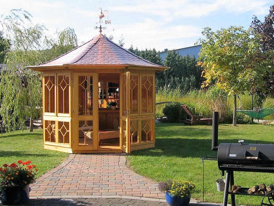 gartenlauben grilllauben und pavillons aus holz geschlossen bellavista 8eck kaufen. Black Bedroom Furniture Sets. Home Design Ideas