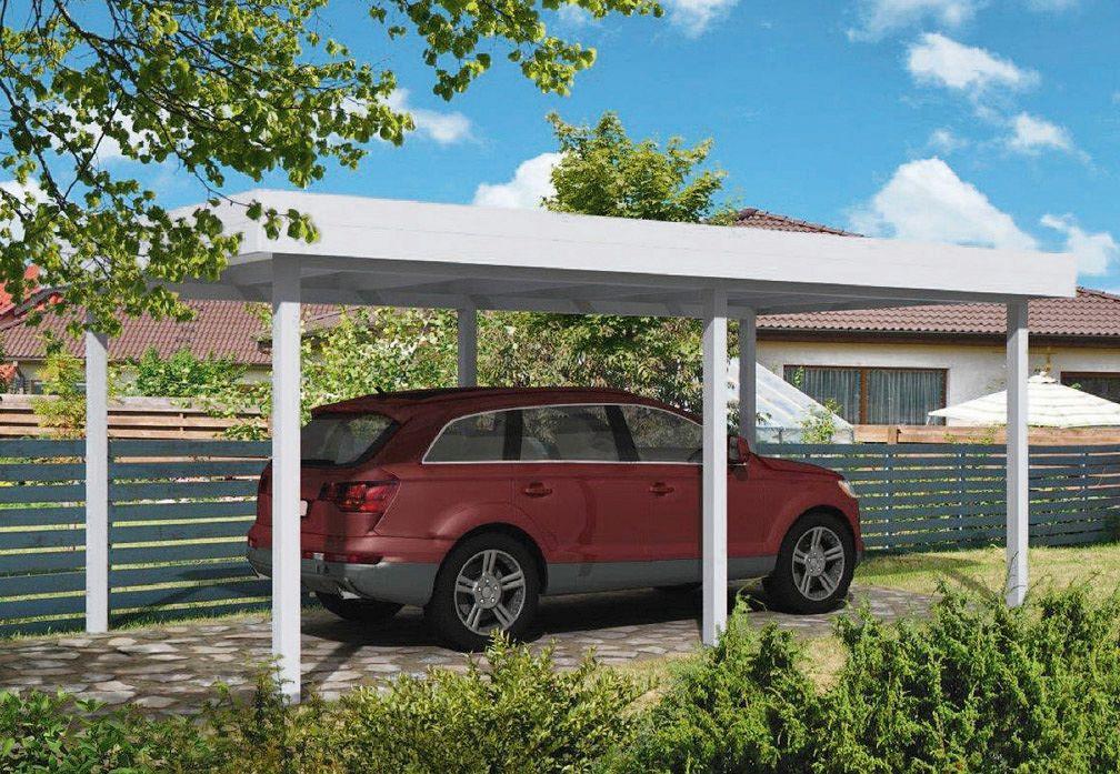 carport und garage aus aluminium flachdachcarport 4m kaufen. Black Bedroom Furniture Sets. Home Design Ideas