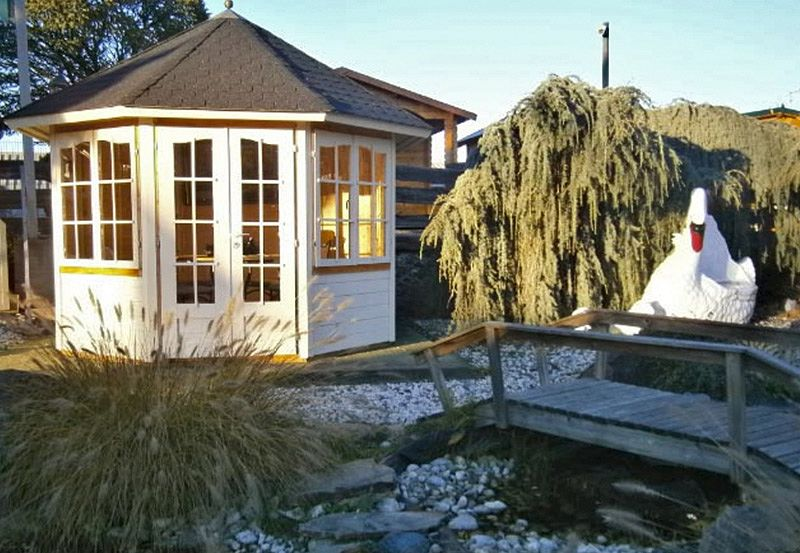 gartenlaube grilllaube und pavillon aus holz geschlossen gartenlust kaufen. Black Bedroom Furniture Sets. Home Design Ideas