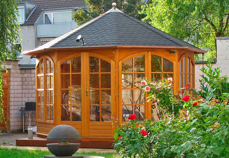 gartenlaube grilllaube und pavillon aus holz geschlossen gartenschl sschen 8eck kaufen. Black Bedroom Furniture Sets. Home Design Ideas