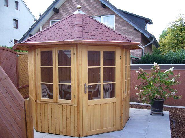 gartenlaube grilllaube und pavillon aus holz geschlossen gartenoase 6eck kaufen. Black Bedroom Furniture Sets. Home Design Ideas