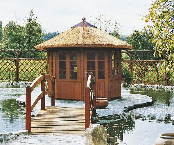 gartenlaube grilllaube und pavillon aus holz geschlossen gartenoase 8eck kaufen. Black Bedroom Furniture Sets. Home Design Ideas