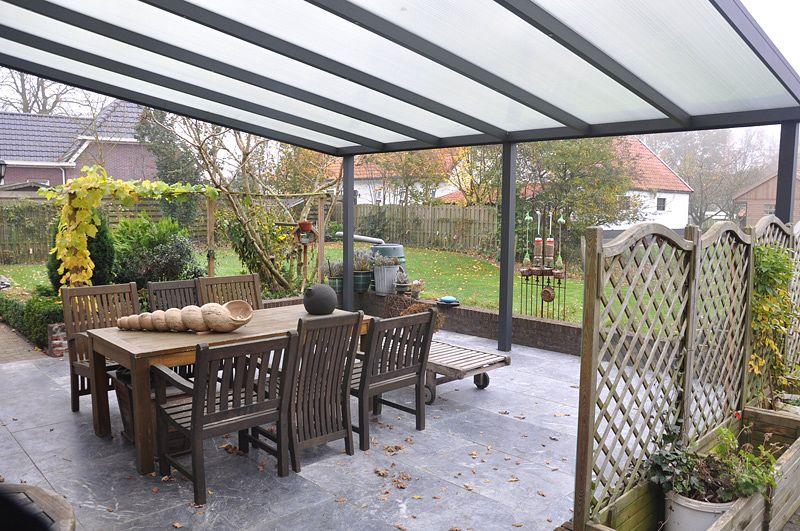 terrassendach aluminium ueberdachung polycarbonat 4 m tief kaufen. Black Bedroom Furniture Sets. Home Design Ideas