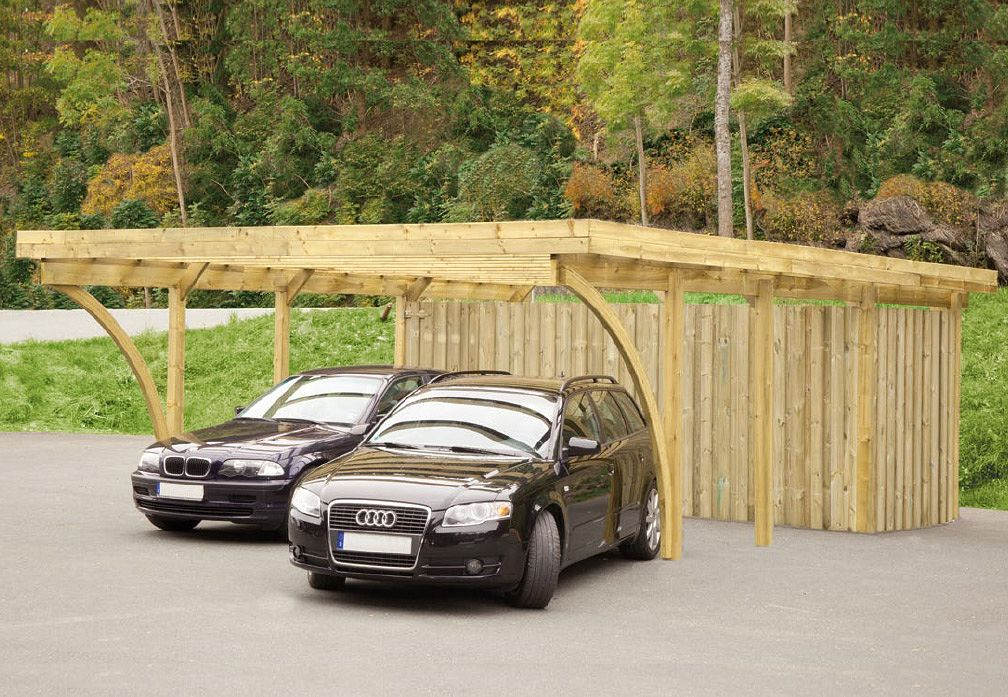 carport und garage aus holz fehmarn 1 kaufen. Black Bedroom Furniture Sets. Home Design Ideas