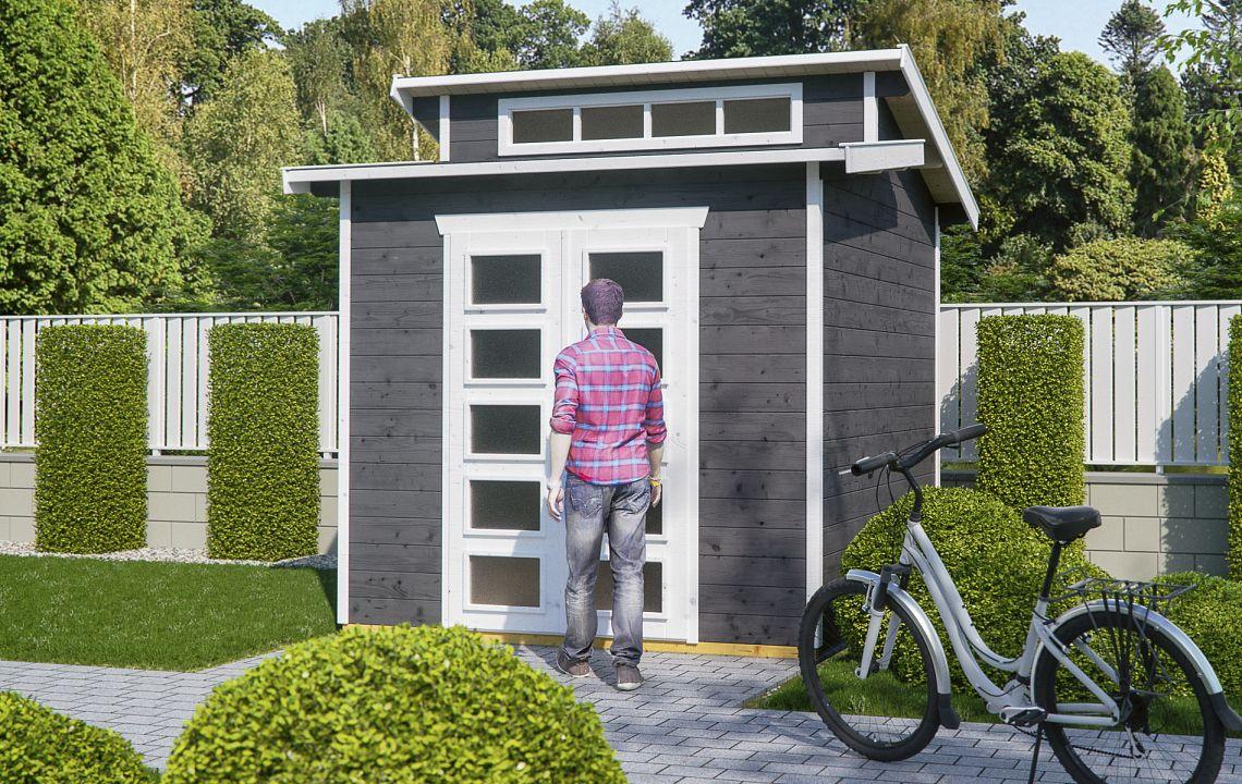 gartenhaus und ger tehaus flachdach pultdach fashion kaufen. Black Bedroom Furniture Sets. Home Design Ideas