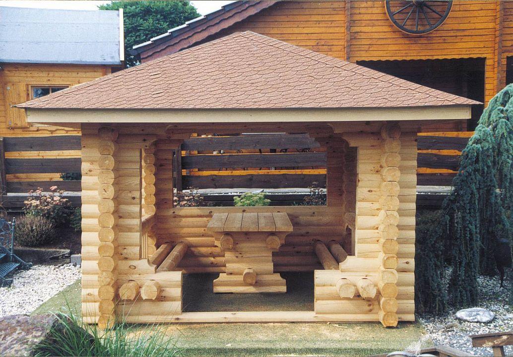 Gartenlaube grilllaube und pavillon aus holz offen rustika for Gartenlaube aus holz