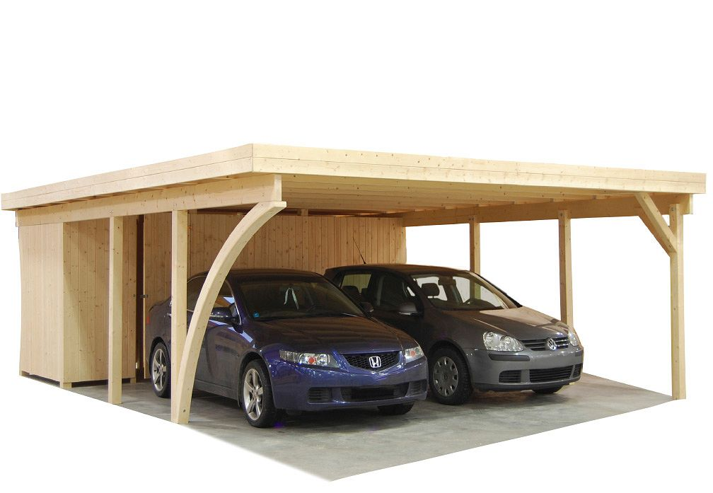 carport und garage aus holz magnum 2 ger teraum kaufen. Black Bedroom Furniture Sets. Home Design Ideas