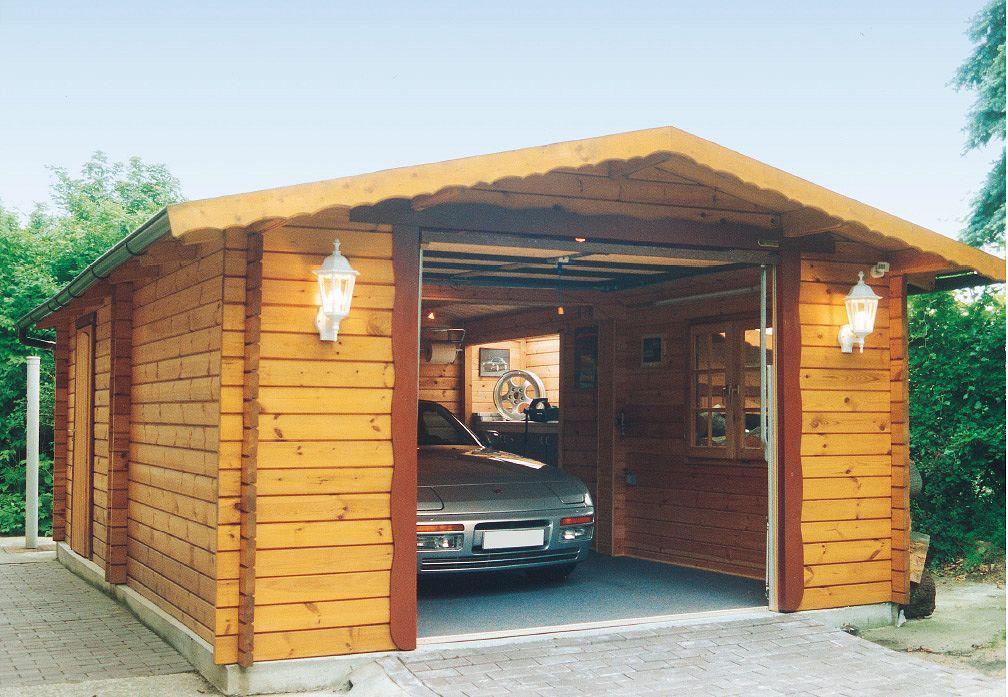Carports und garagen garagen aus blockbohlen eibe 1 von - Gartenzaunelemente metall ...