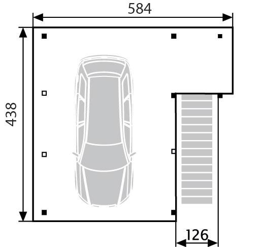 Grenzbebauung Carport: Terrassendach Holz Ueberdachung Terrassendachcarport 201