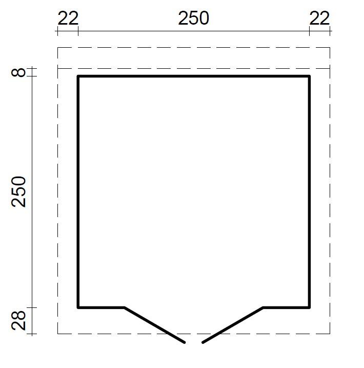 gartenhaus und ger tehaus flachdach pultdach concept 1 kaufen. Black Bedroom Furniture Sets. Home Design Ideas