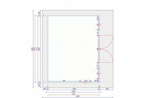 gartenhaus und ger tehaus flachdach pultdach bungalow 1 kaufen. Black Bedroom Furniture Sets. Home Design Ideas