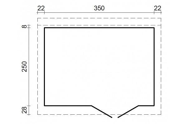 gartenhaus und ger tehaus flachdach pultdach concept 2 kaufen. Black Bedroom Furniture Sets. Home Design Ideas