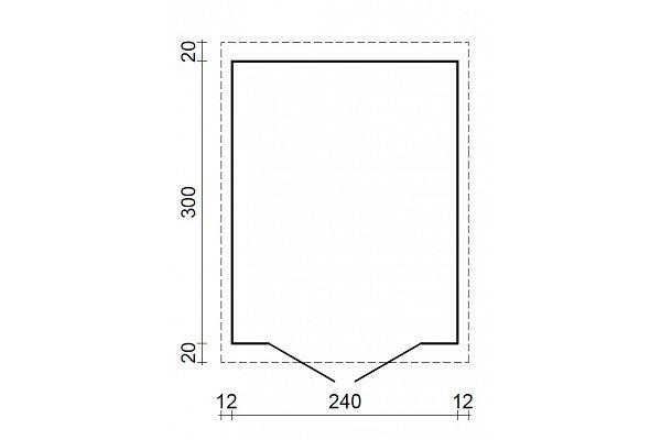 gartenhaus und ger tehaus flachdach pultdach zweckhaus 1. Black Bedroom Furniture Sets. Home Design Ideas