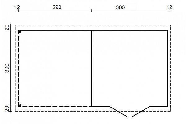 gartenhaus und ger tehaus flachdach pultdach zweckhaus 2. Black Bedroom Furniture Sets. Home Design Ideas