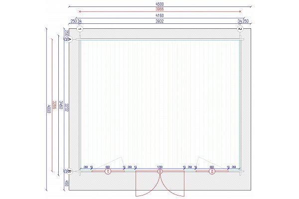 gartenhaus und ger tehaus flachdach pultdach flat style 1 kaufen. Black Bedroom Furniture Sets. Home Design Ideas