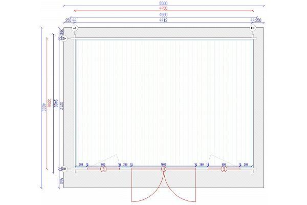 gartenhaus und ger tehaus flachdach pultdach flat style 2 kaufen. Black Bedroom Furniture Sets. Home Design Ideas