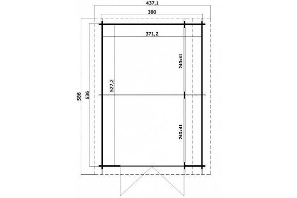 carport und garage aus blockbohlen erle kaufen. Black Bedroom Furniture Sets. Home Design Ideas