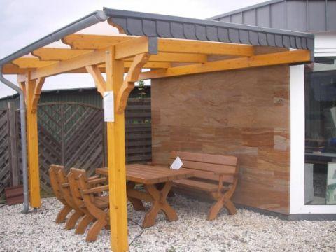 Terrassenuberdachung Aus Holz Terrassendach Bausatz Kaufen