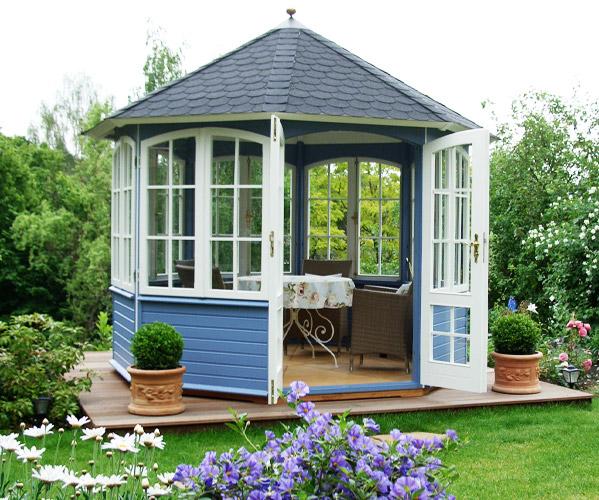gartenlaube grilllaube und pavillon aus holz geschlossen sunrise 8eck 1 kaufen. Black Bedroom Furniture Sets. Home Design Ideas